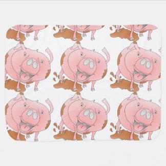 Mucky rosa Schwein Babydecke