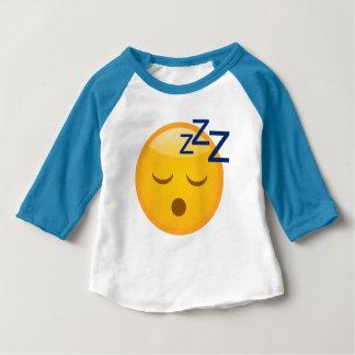 Müde Schlafenszeit Emoji Baby T-shirt