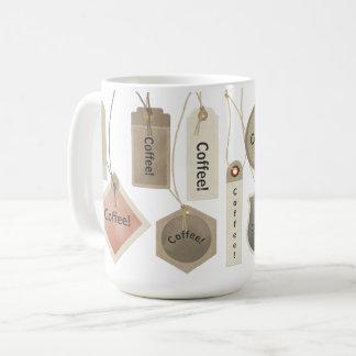 Mug Café ou toutes étiquettes de nom de monogramme |