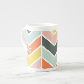 Mug Chevron | gai décoré d'un monogramme par des