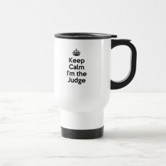 Mug De Voyage Gardez le calme que je suis le juge