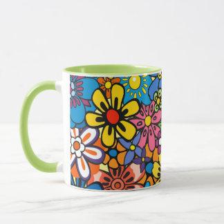 Mug Flower power coloré