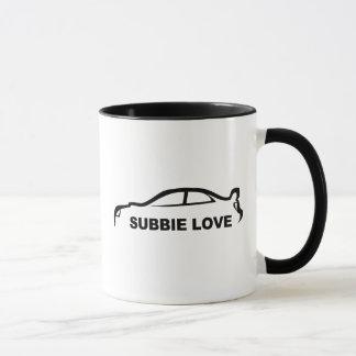 """Mug Silhouette d'amour de STI """"Subbie"""" de Subaru"""