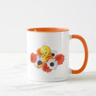 Mug Tweety avec des marguerites