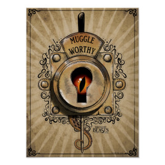 Muggle angemessener Verschluss mit dem Poster