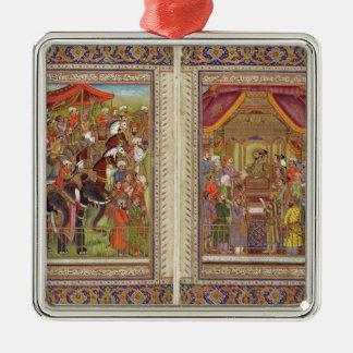 Mughal Inder-Indien-Islam islamische moslemische Silbernes Ornament