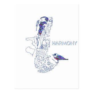 multi Farbe der Harmonie Postkarte