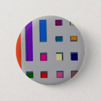 Multi Farbe geometrisch Runder Button 5,7 Cm