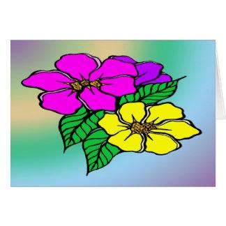 Multi Farbe mit Blumen Karte