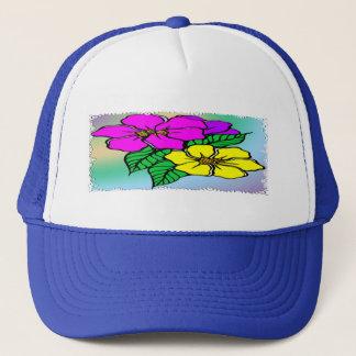 Multi Farbe mit Blumen Truckerkappe