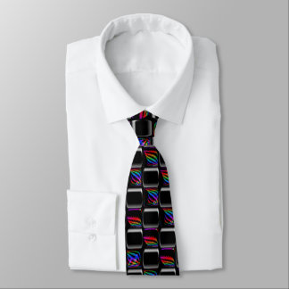 Multi Farbe Techno beleuchtet Schachbrett-Muster Personalisierte Krawatten