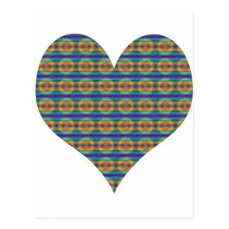 Multi-färben-Herz Postkarte