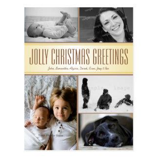 Multi-Foto Weihnachtspostkarten-Gruß Postkarte