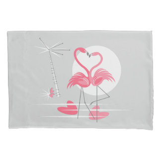 Multi hinterer Kissenbezug der Flamingo-Liebe