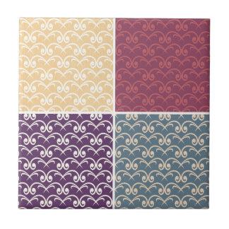 Multi Musterdamastfarbretro trendy Chic-Rosen Kleine Quadratische Fliese