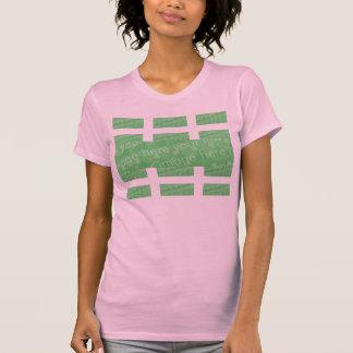 Multi-Platte Entwurfs-Effekt T-Shirt