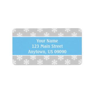 Multi Schneeflocke-Adressen-Etiketten (lt Adressaufkleber