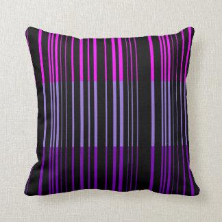 Multi violetter Retro Streifen-Kunst-Entwurf Kissen