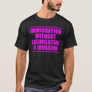 Multiculturalisme d'assimilation pas t-shirt