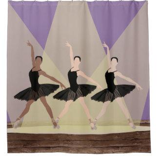Multikulturelle Ballerinen auf Bühne-Duschvorhang Duschvorhang