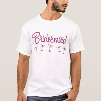 MultiMartini-Brautjungfer-Rosa T-Shirt