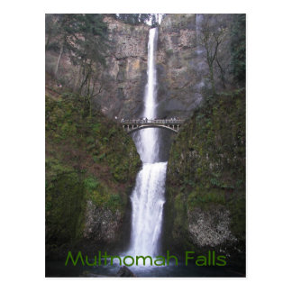Multnomah Fall-Reise-Foto Postkarte