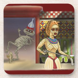 Mummific und Frau Untersetzer