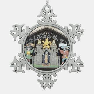 München, Deutschland Schneeflocken Zinn-Ornament