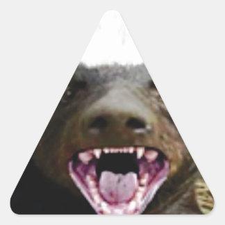 Mundbiss-Honigdachs Dreieckiger Aufkleber