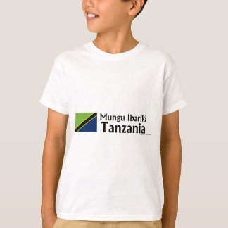 Mungu Ibariki (Gott segnen), Tansania mit Flagge T-Shirt