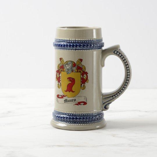 Munro Wappen Stein - Familienwappen Bierglas