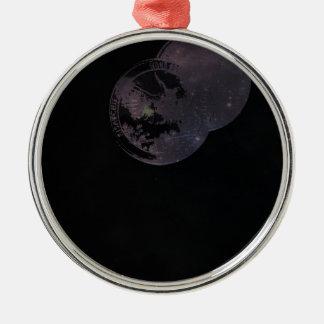Münzen und Konstellationen Silbernes Ornament
