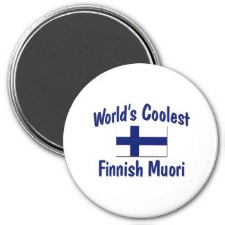 Muori finlandais le plus frais du monde magnet rond 7,50 cm
