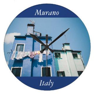 Murano Häuser Große Wanduhr