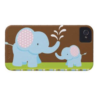 Mûre mignonne adorable d'éléphants de bande dessin coque Case-Mate iPhone 4