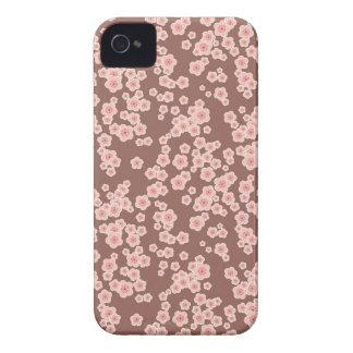 Mûre rose mignonne de motif de fleurs de cerisier étuis iPhone 4