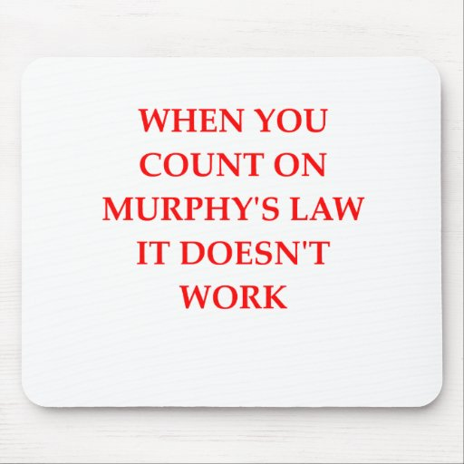 Murphys Gesetz Mousepad