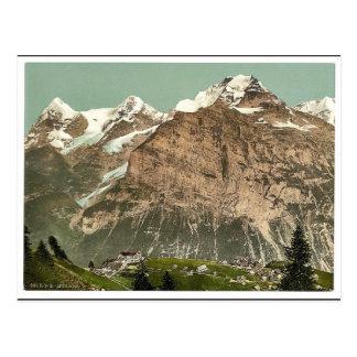 Murren, allgemeine Ansicht, Bernese Oberland, Postkarte