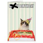 Mürrische Katze - alles- Gute zum Geburtstagkarte