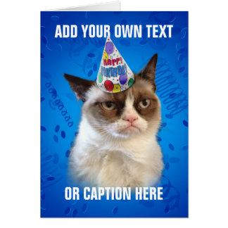 Mürrische Katze Customizeable alles Gute zum Gebur Grußkarte