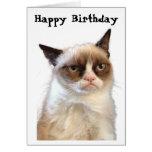 Mürrische Katzen-alles- Gute zum Geburtstagkarte Grußkarte