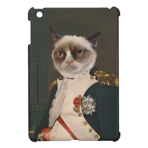 Mürrische Katzen-klassische Malerei iPad Mini Schutzhüllen