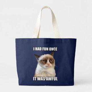 Mürrische Katzen-Tasche Jumbo Stoffbeutel