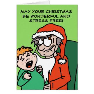 Mürrische lustige Weihnachtskarte Sankt Grußkarte