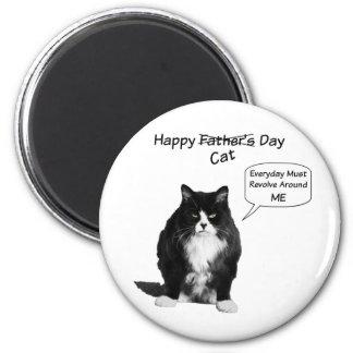 Mürrischer der Vatertags-runder Magnet Katzen- Runder Magnet 5,7 Cm