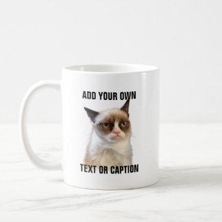Mürrischer Katzen-greller Glanz - addieren Sie Kaffeetasse