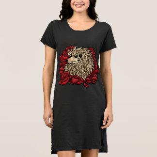 Mürrisches Igels-T - Shirt-Kleid