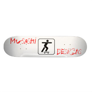 Musashi entwirft Stickpusher Individuelle Skatedecks