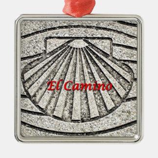 Muschel EL Camino, Plasterung, Spanien (Titel) Silbernes Ornament