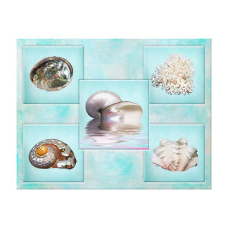 Muscheln-Leinwand-Druck - 5 verschiedene Bilder - Leinwanddruck